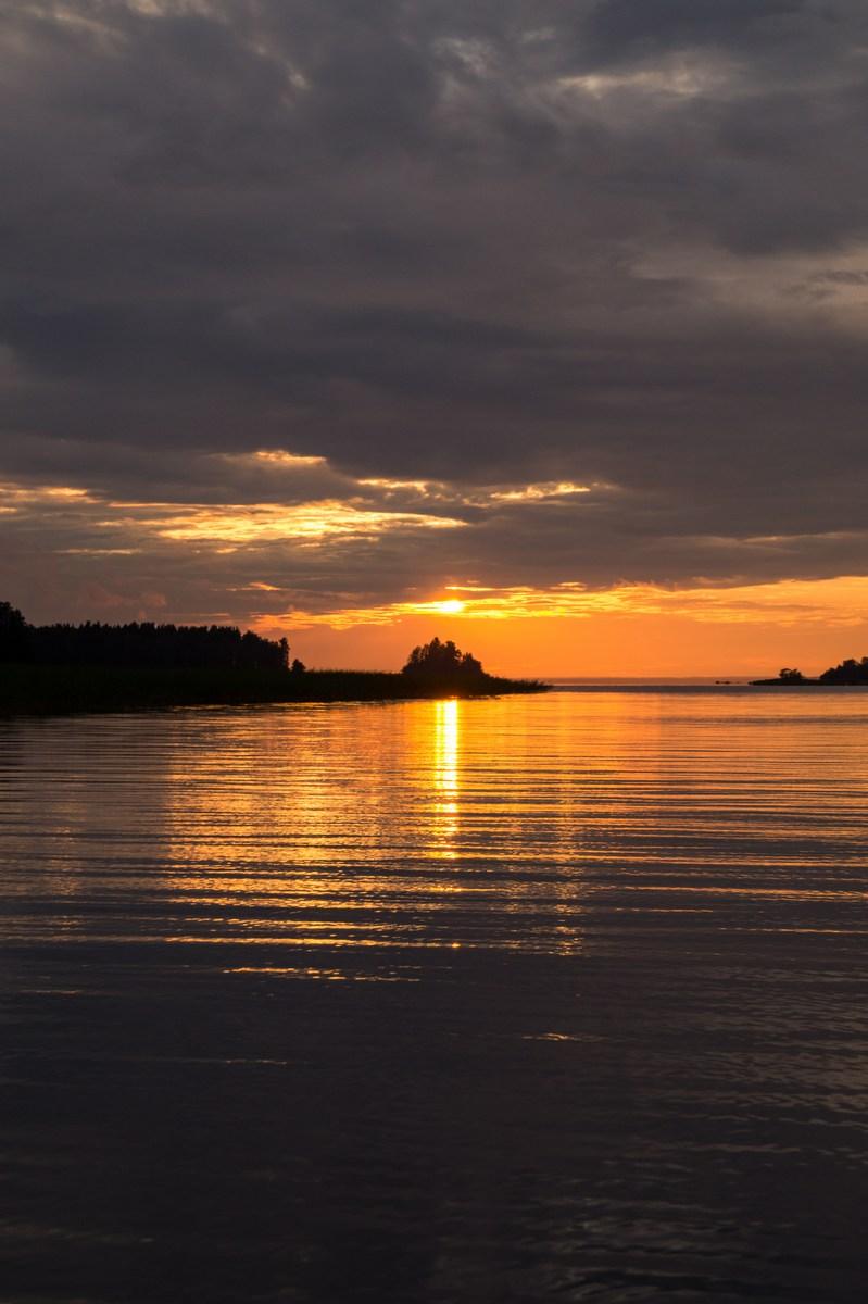 На Финском заливе. В Глебычево. Августовский закат.