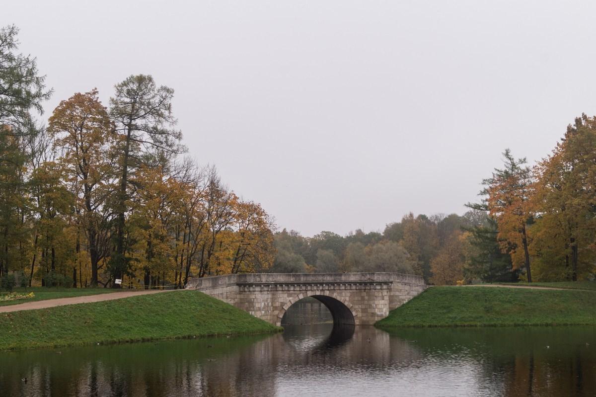 Гатчинский парк. Карпин мост.