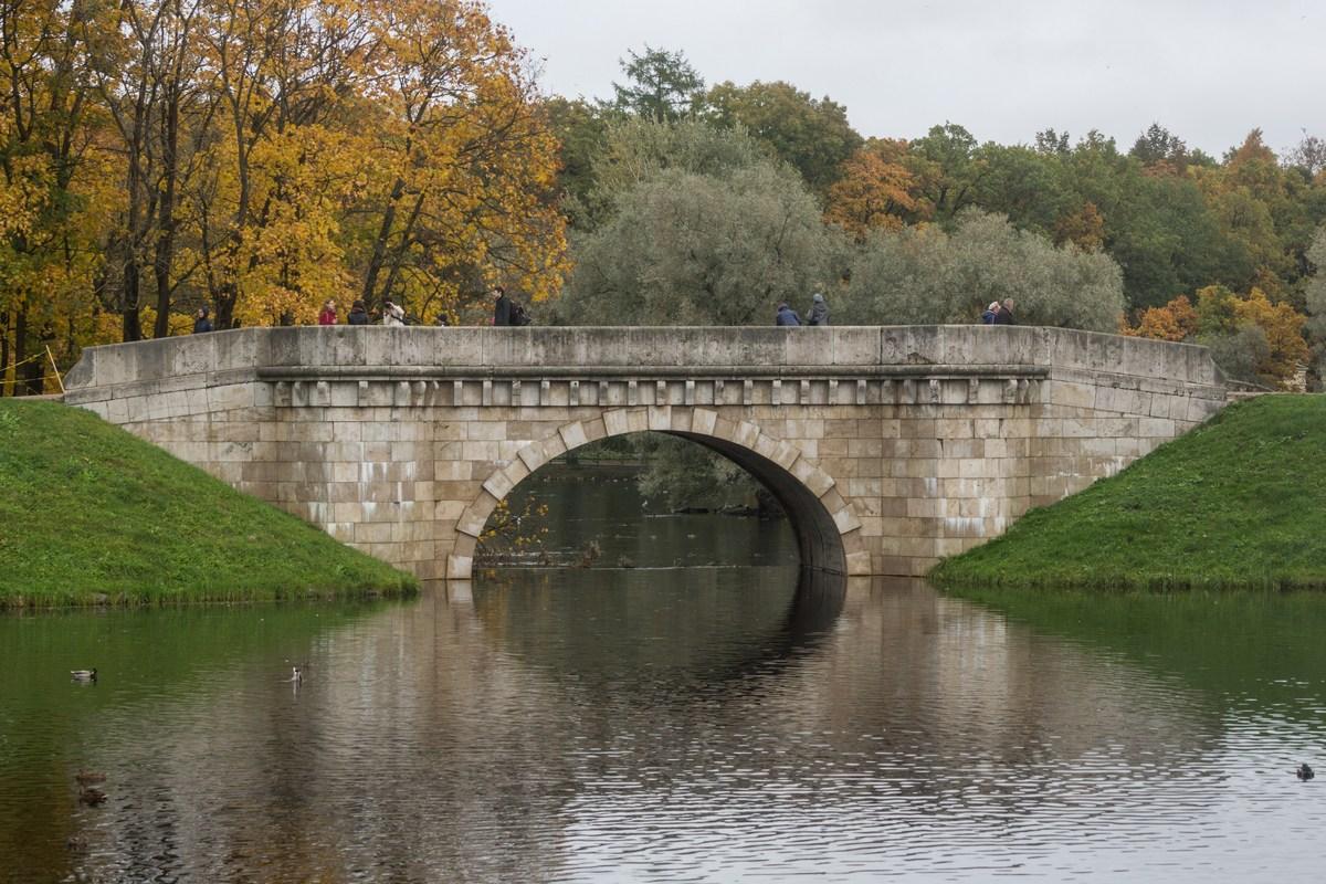 Гатчинский парк. Карпин мост (1790-1796).