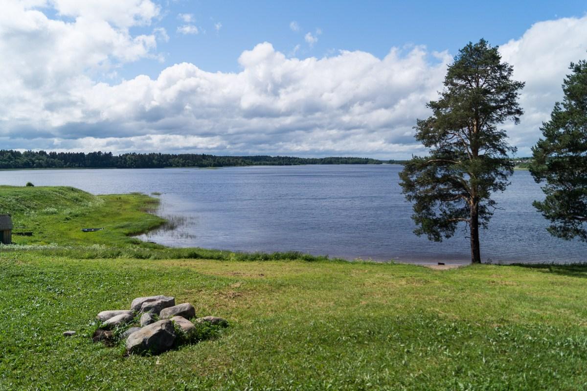 На берегу Ферапонтовского озера.