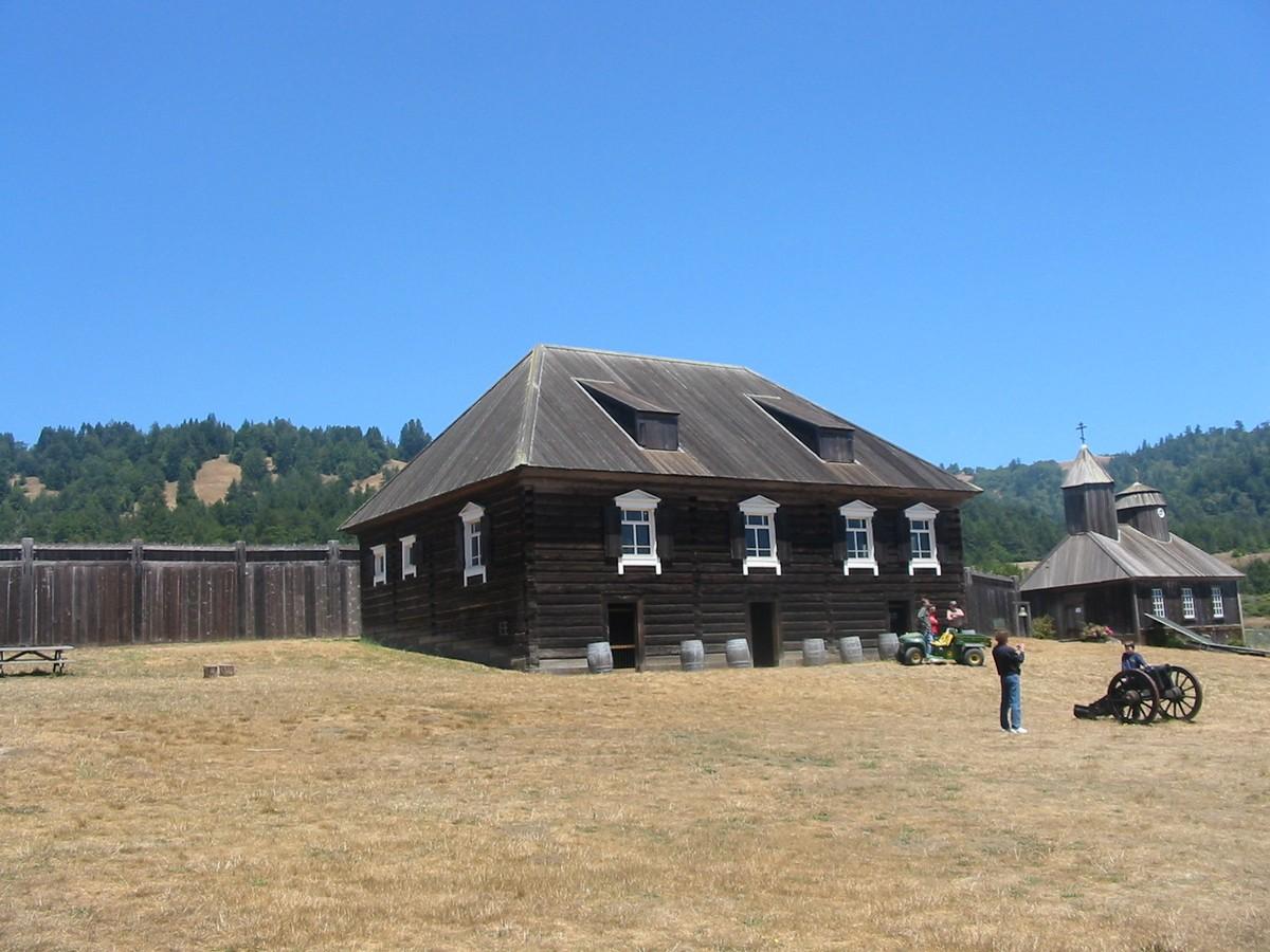 Северная Калифорния. Крепость Росс. Дом Кускова. Реконструкция.