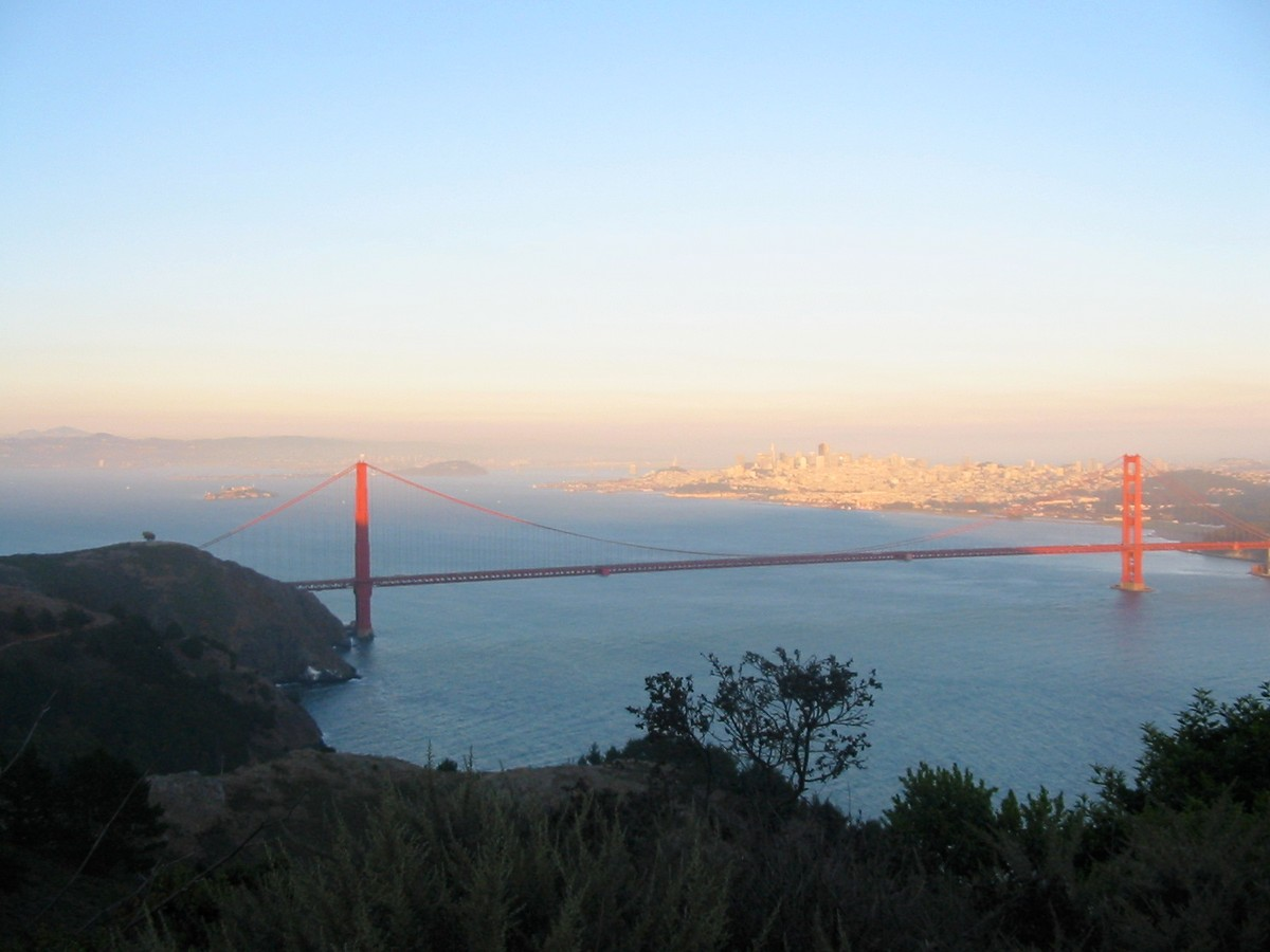 Калифорния. Сан-Франциско. Мост Золотые ворота.
