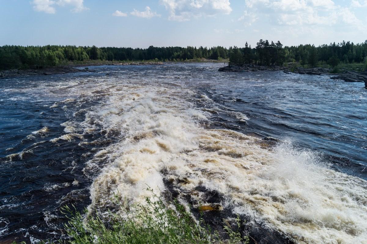 Река Нижний Выг в Карелии.
