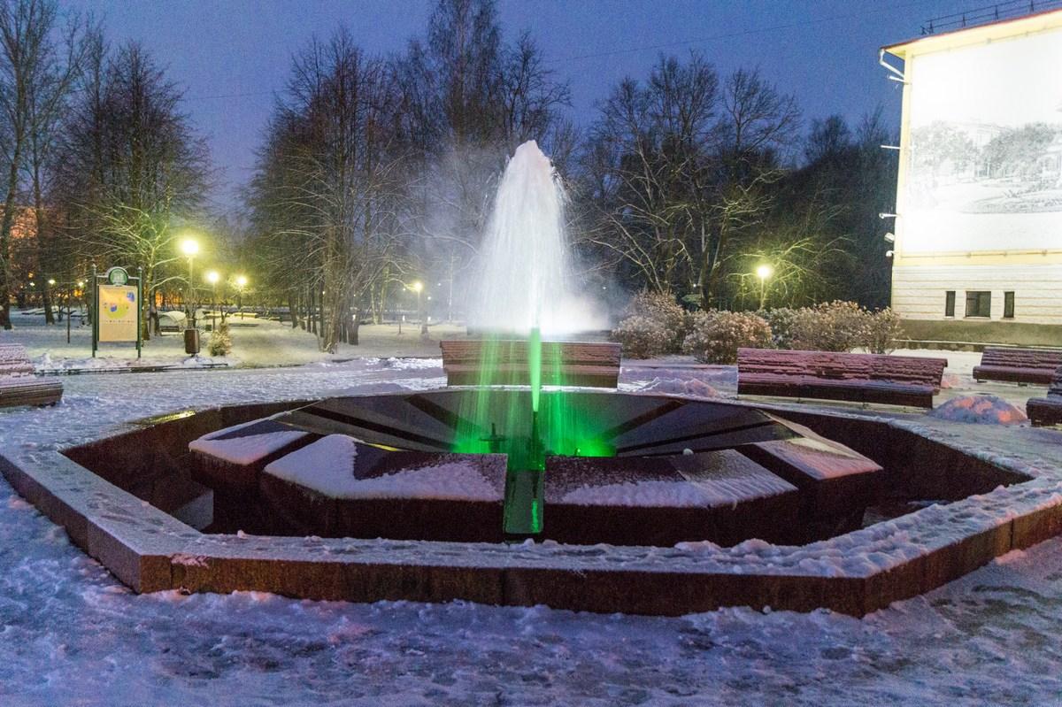 Старая Русса. Муравьевский фонтан. Зеленый.
