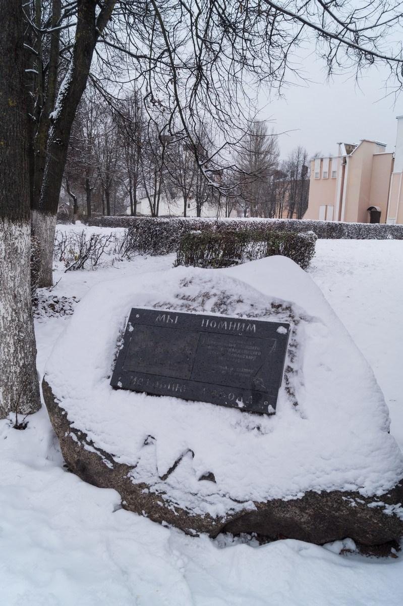 Старая Русса. Спасо-Преображенский монастырь. У памятного камня.