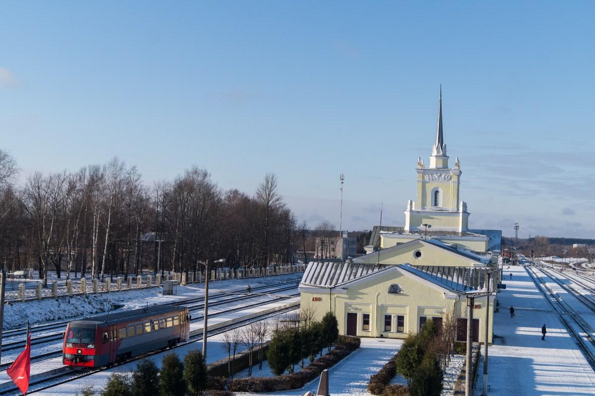 Псковская область. Вокзал железнодорожной станции Дно.