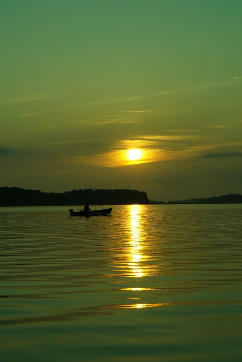 Июнь. На Финском заливе в Глебычево. Закат.