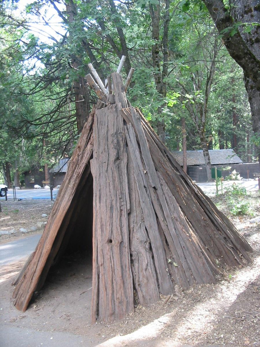 В парке Йосемити. Вигвам.