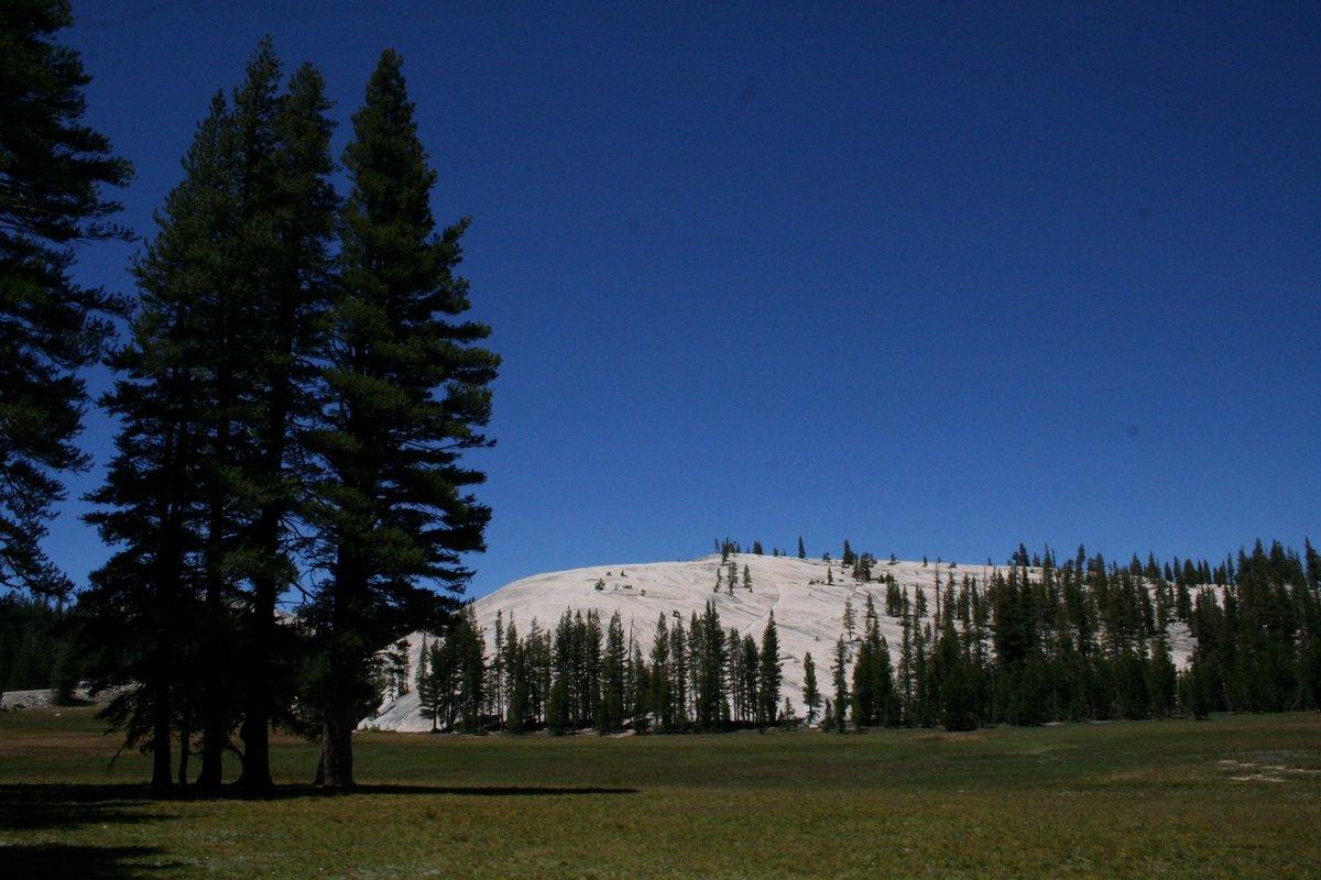Калифорния. У отрогов Сьерра-Невада. Белая гора в долине.