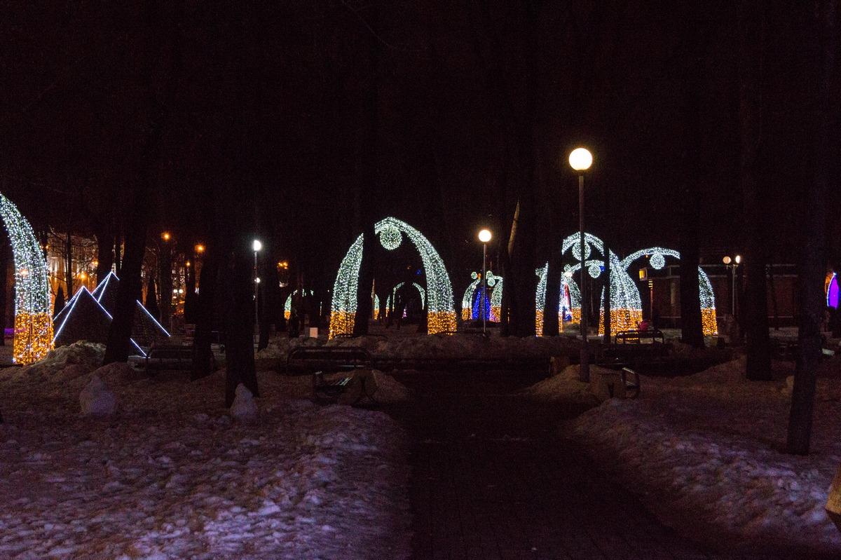 Гомель. Сквер имени Громыко. Ночь на дворе.