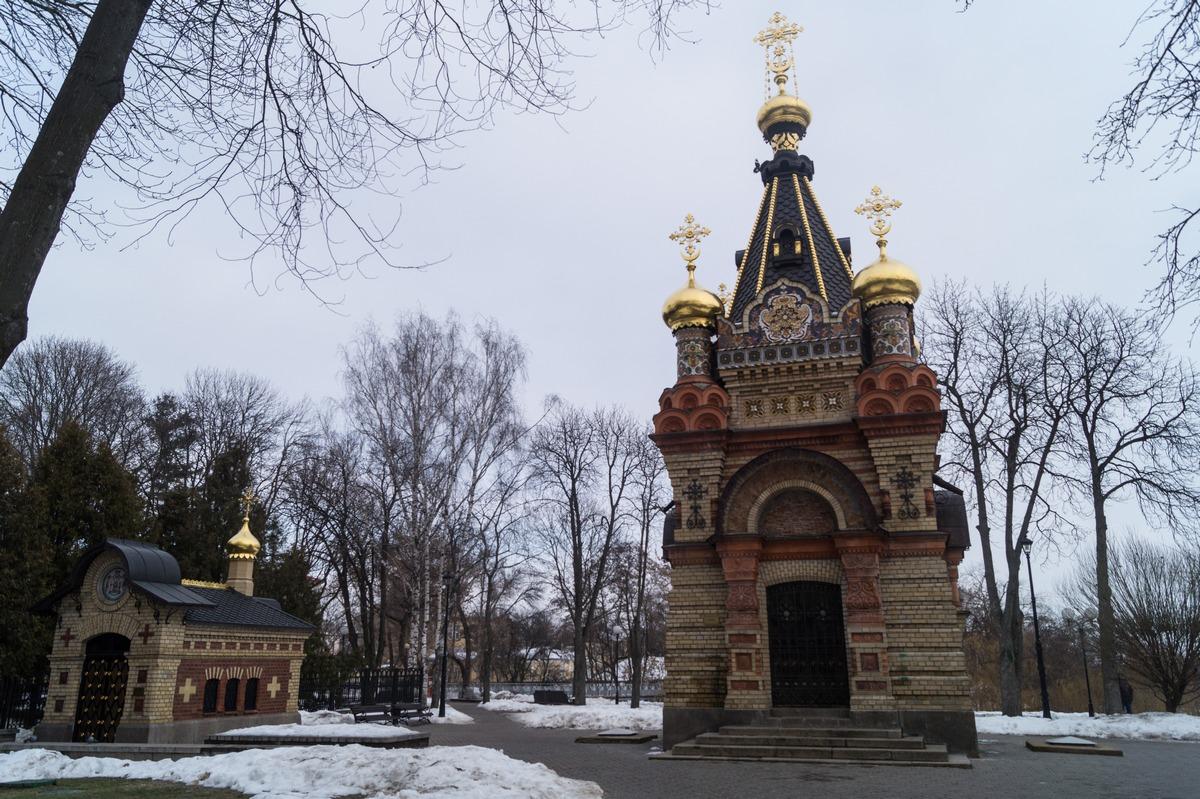 Гомель. Часовня-усыпальница Паскевичей в составе дворцово-паркового ансамбля.
