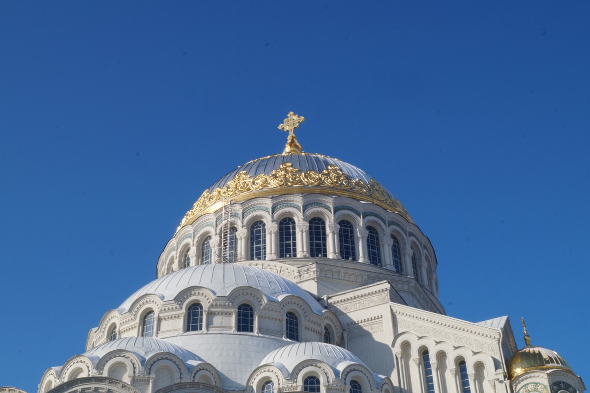 Кронштадт. Купол Никольского Морского собора.