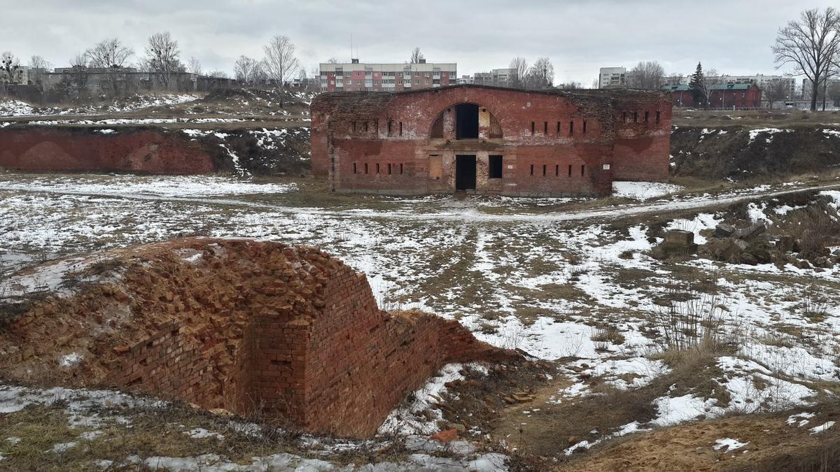 Остатки Бобруйской крепости.