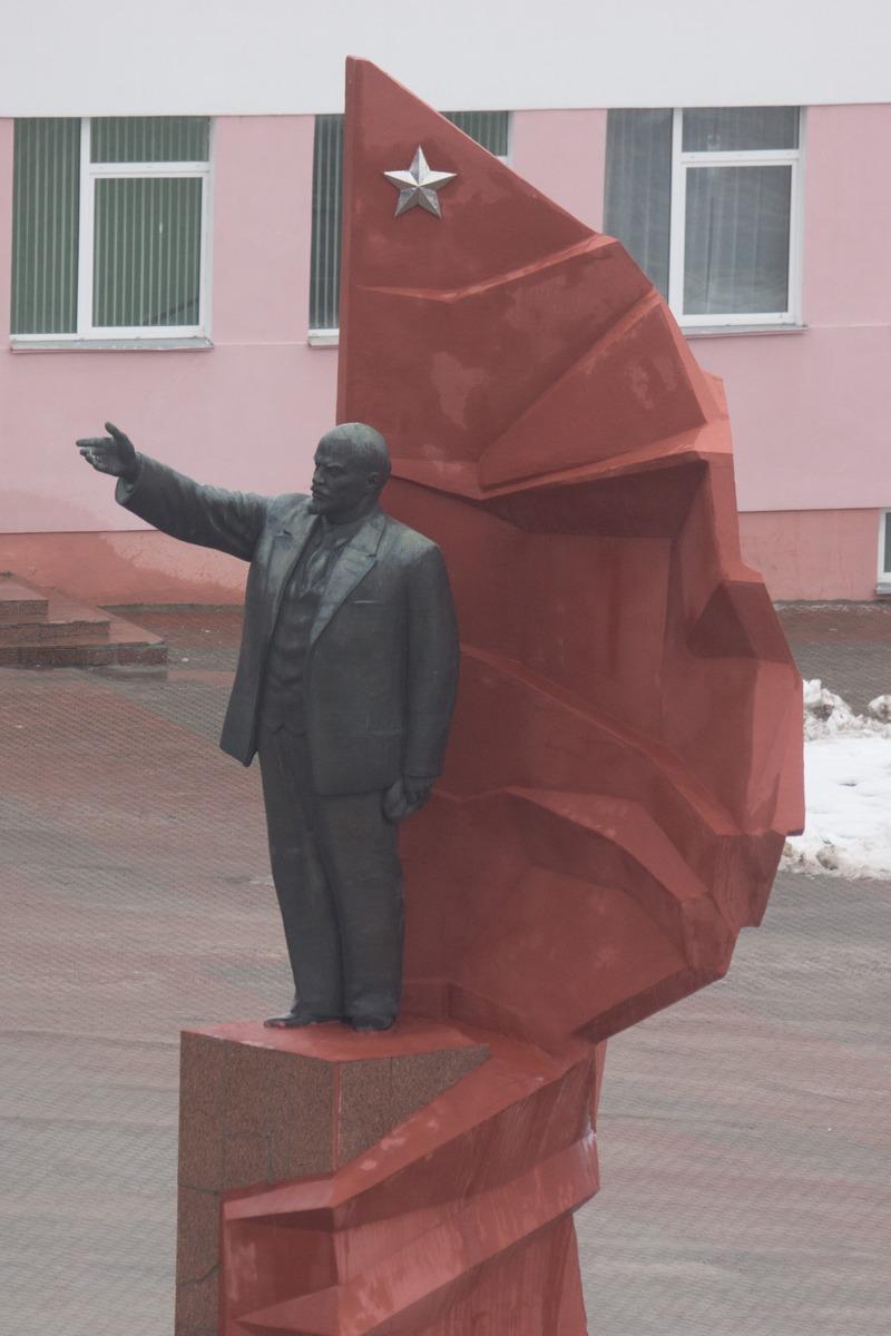 Мозырь. Ильич на площади Ленина.