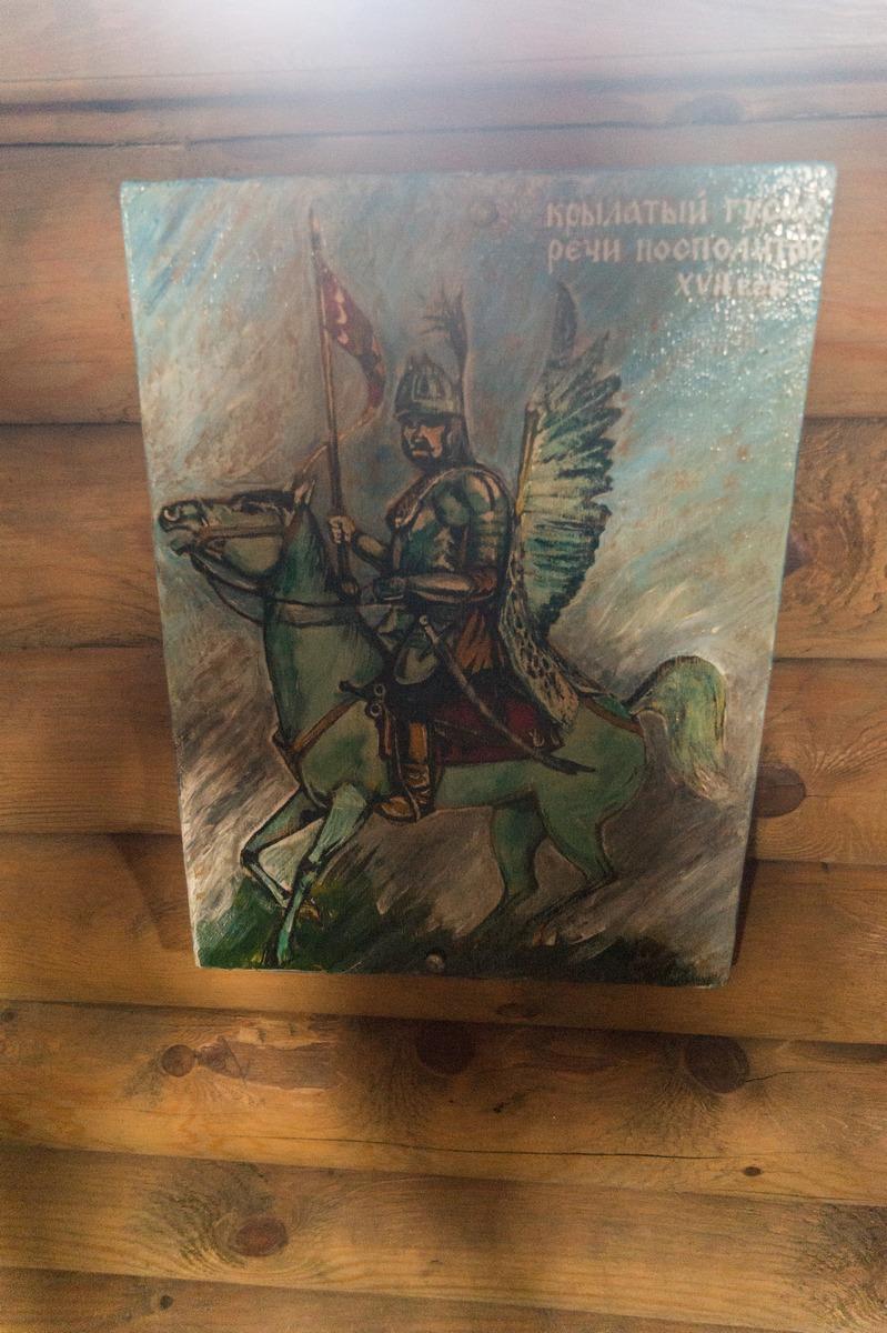 Мозырский замок. Оружейная башня. Крылатый гусар Речи Посполитой - элитная кавалерия.
