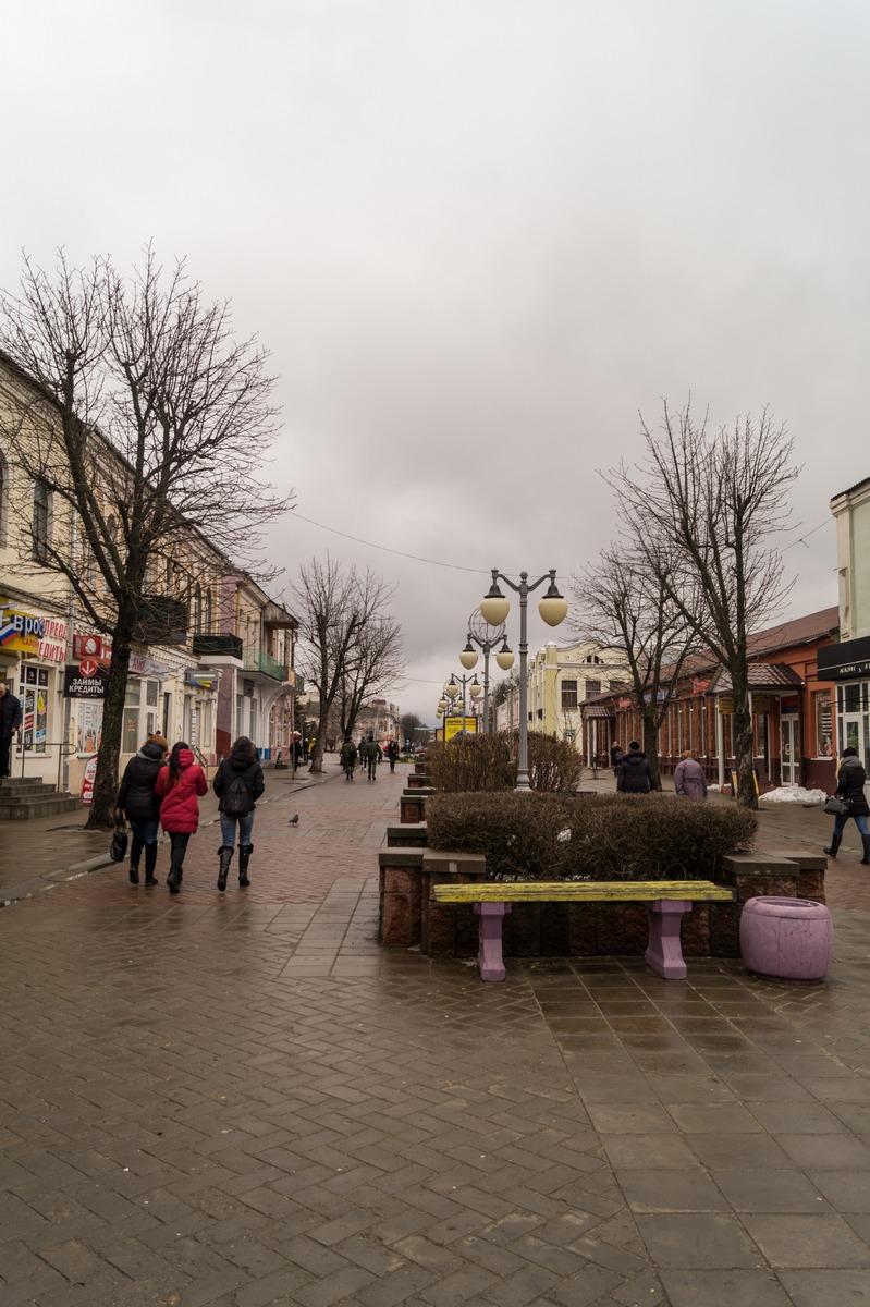 Бобруйск. Пешеходная часть Социалистической улицы.