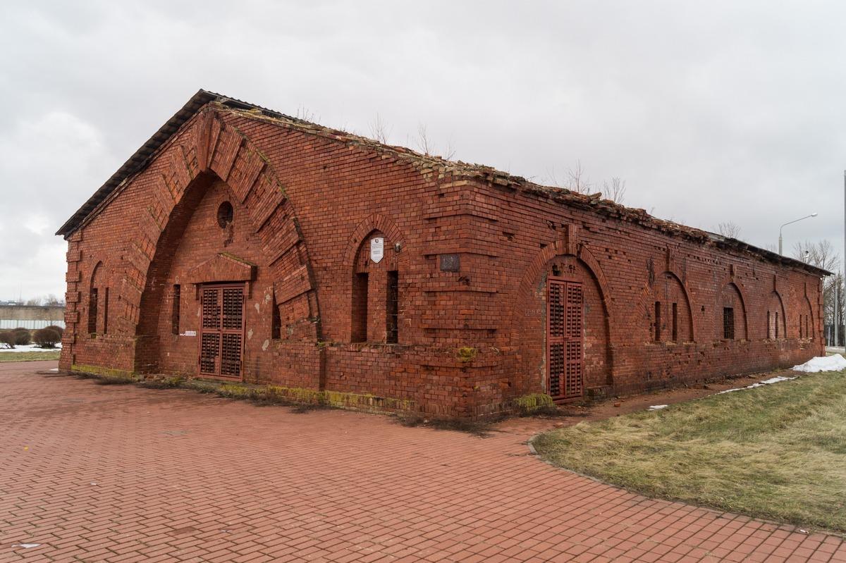 Бобруйская крепость. Пороховой погреб-склад.