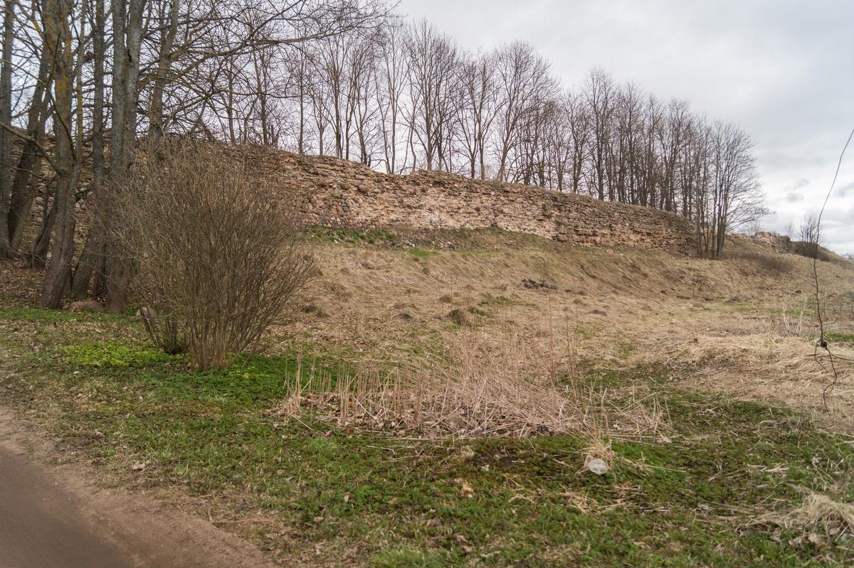 Гдов.  Остатки Гдовской крепости на холме.