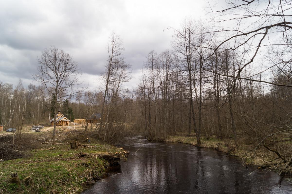 Ленинградская область. У Доложской пещеры. Река Долгая.
