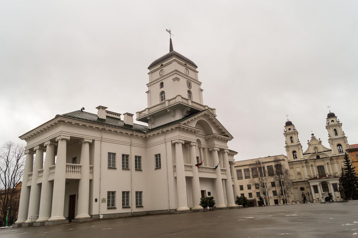 Минск. Верхний город. Здание ратуши на площади Свободы.