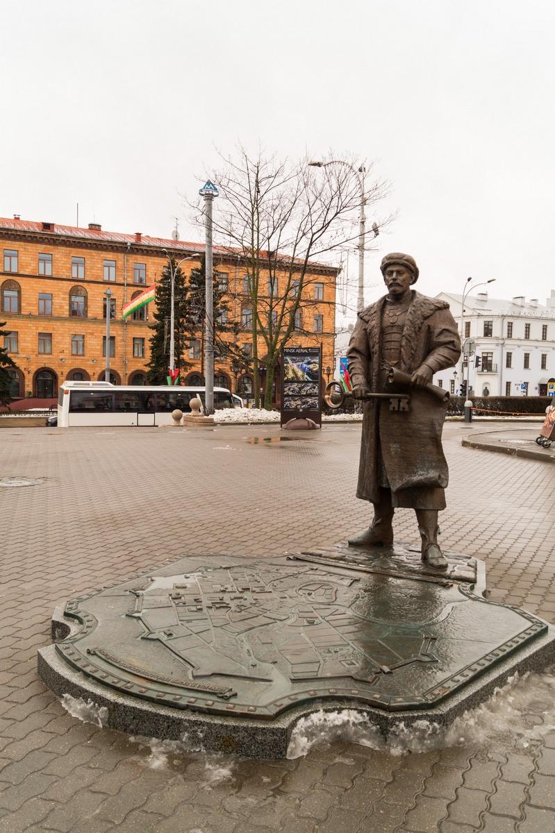 Минск. Глава магистрата с ключом от города и королевской грамотой.