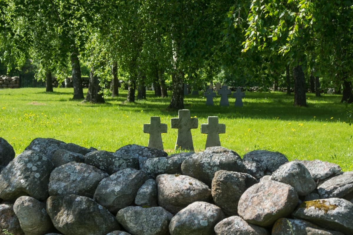 У Ильменя. Немецкое кладбище в деревне Коростынь.