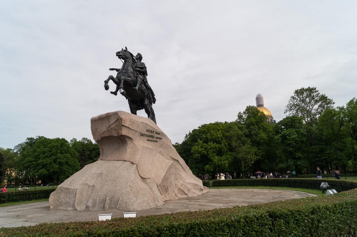 Санкт-Петербург. Медный всадник на Сенатской площади.