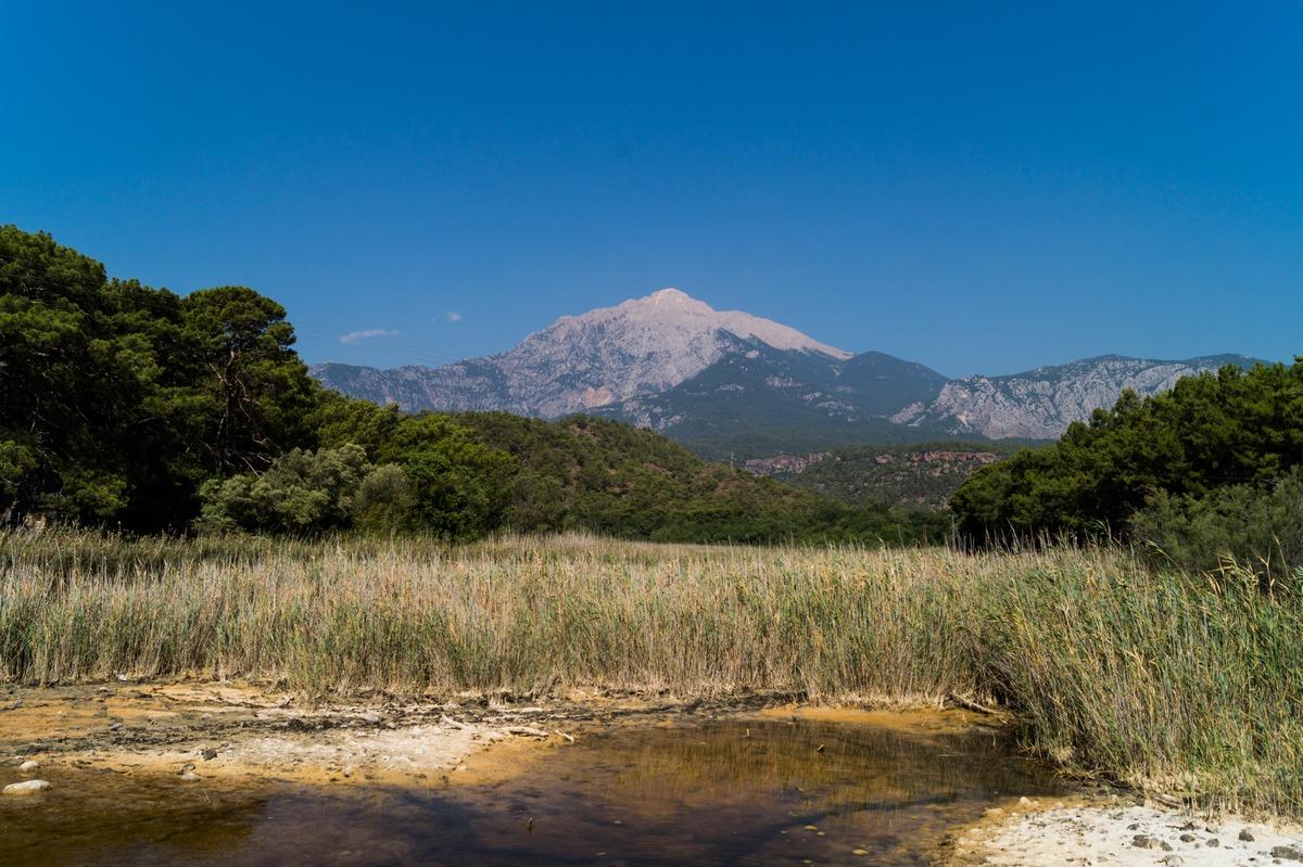У Фазелиса. Вид на болото и гору Тахталы.