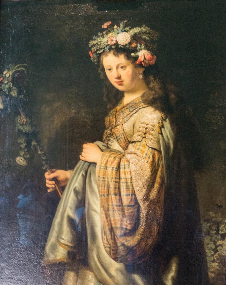 Государственный Эрмитаж. Рембрандт. Флора. 1634.