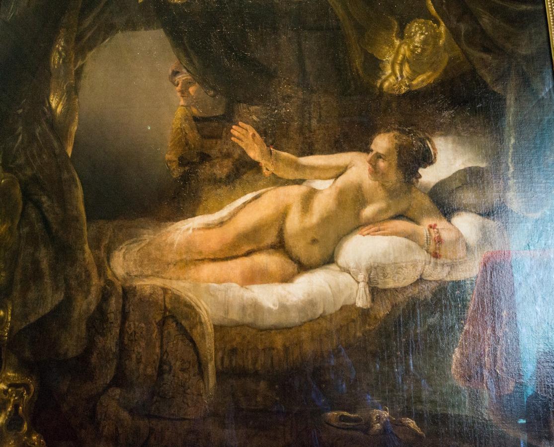 Государственный Эрмитаж. Рембрандт. Даная. 1636-1647.