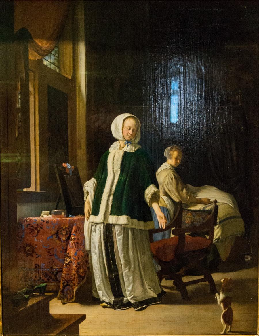 Государственный Эрмитаж. Франс ван Мирис I. Утро молодой дамы.