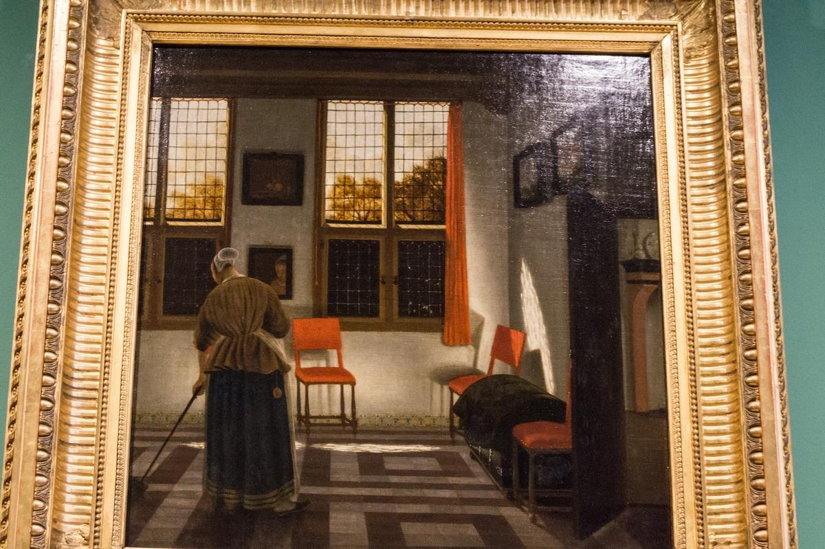 Государственный Эрмитаж. Питер Янсенс Элинга. Комната в голландском доме. 1623.