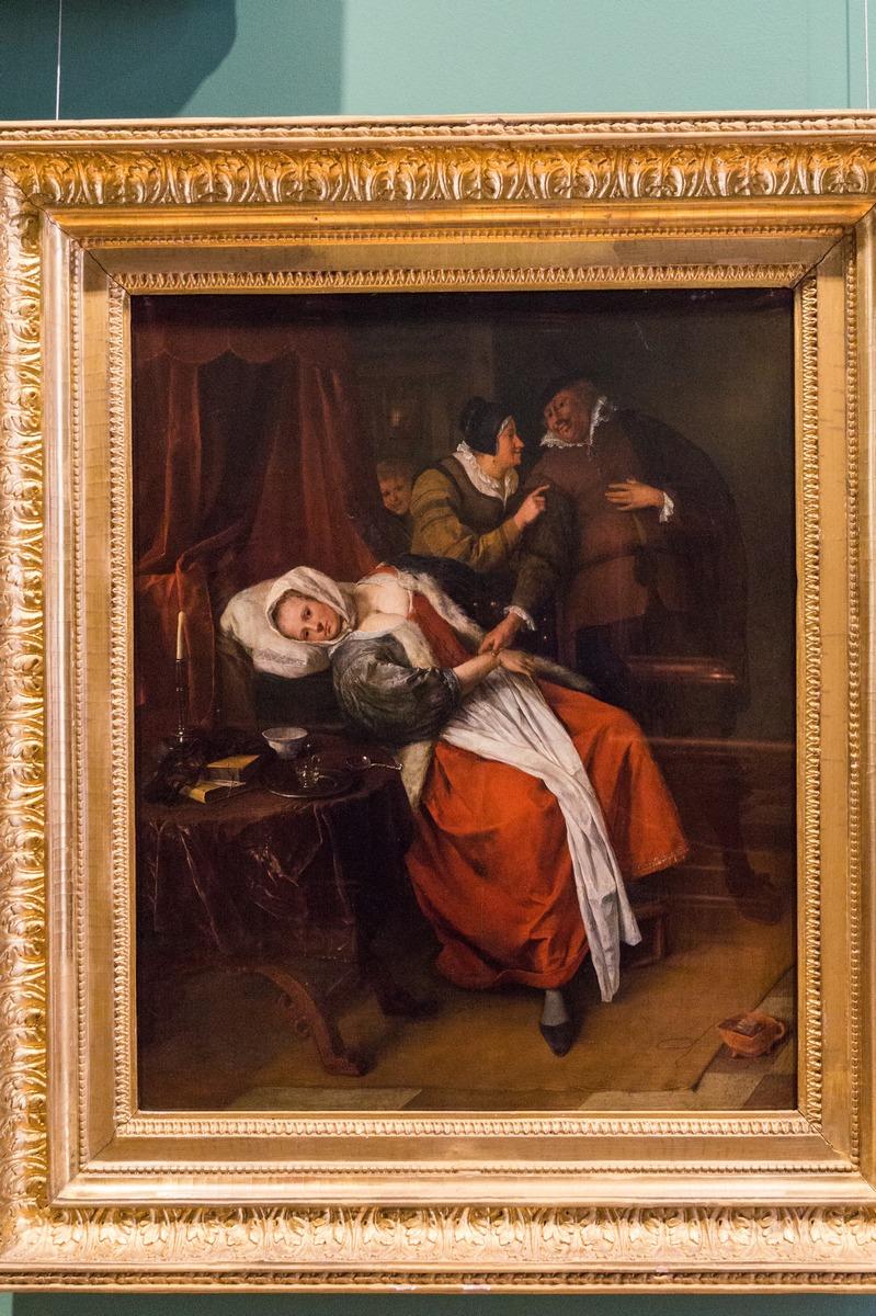 Государственный Эрмитаж. Ян Стен. Больная и врач. 1679.