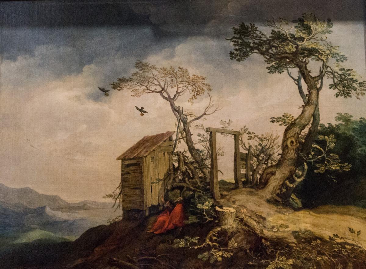 Государственный Эрмитаж. Абрахам Блумарт. Пейзаж с пророком Илией. 1615.