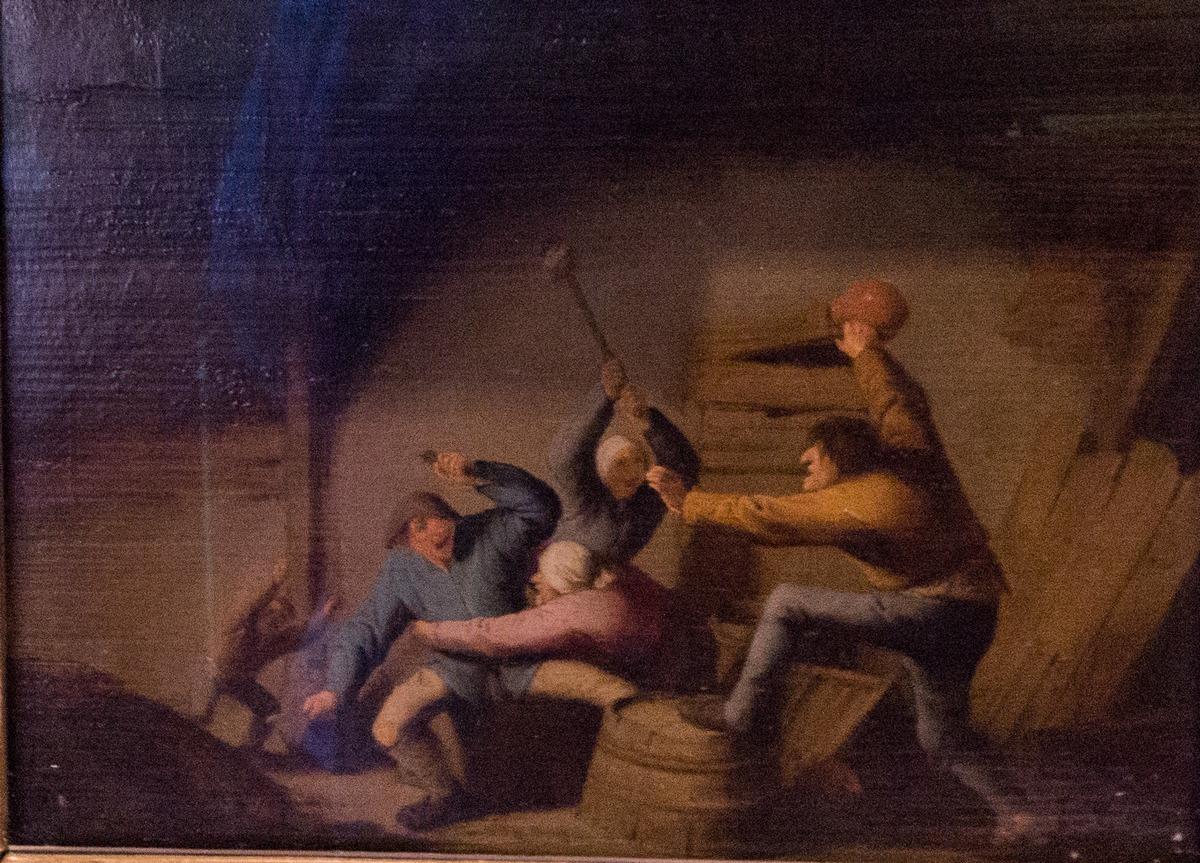 Государственный Эрмитаж. Адриан ван Остаде. Драка. 1637.