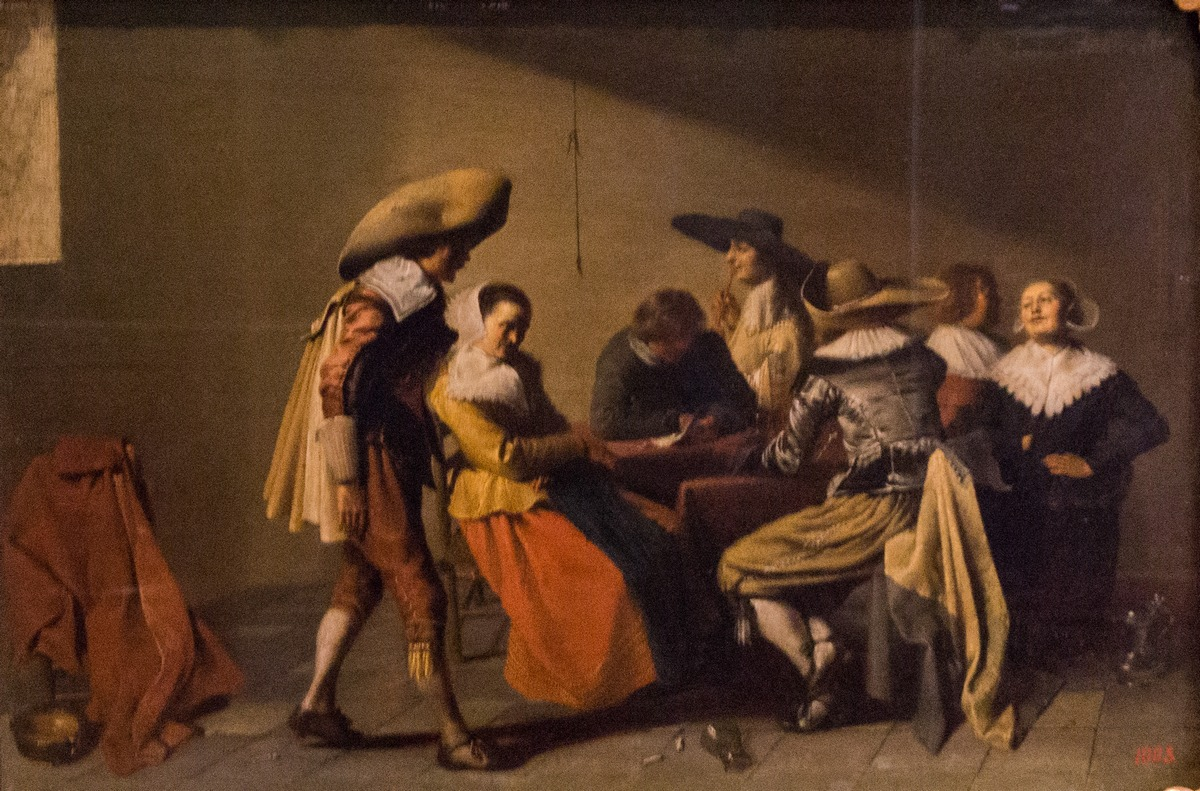 Государственный Эрмитаж. Якоб ван Велзен. Чтение письма. 1644.
