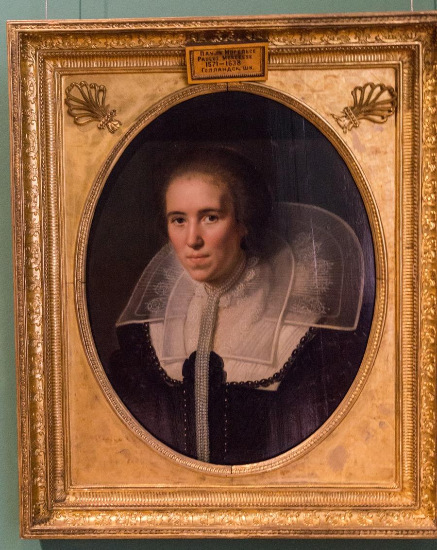 Государственный Эрмитаж. Паулюс Морелсе. Портрет молодой женщины с жемчужной цепью.