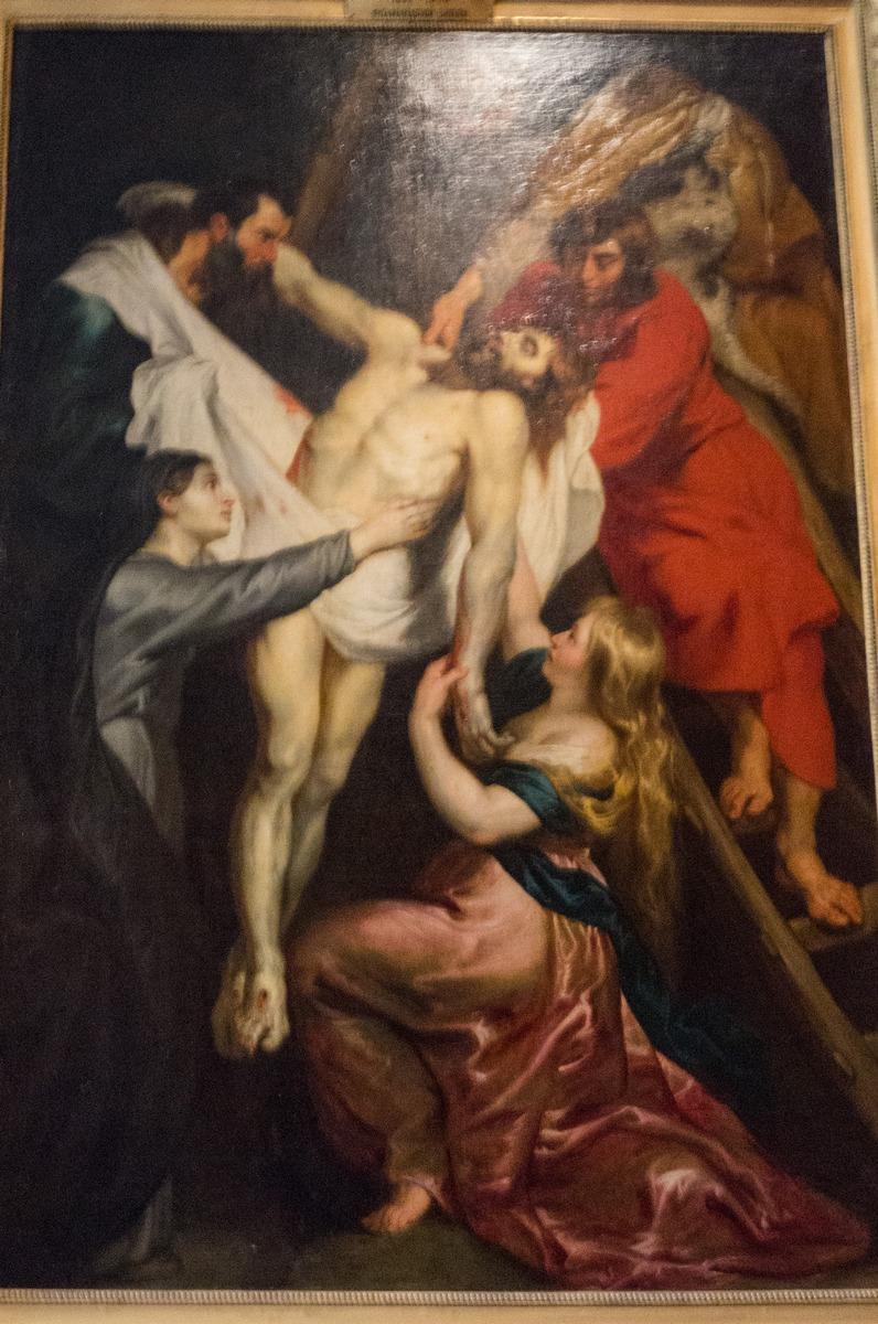 Государственный Эрмитаж. Рубенс. Снятие с креста.