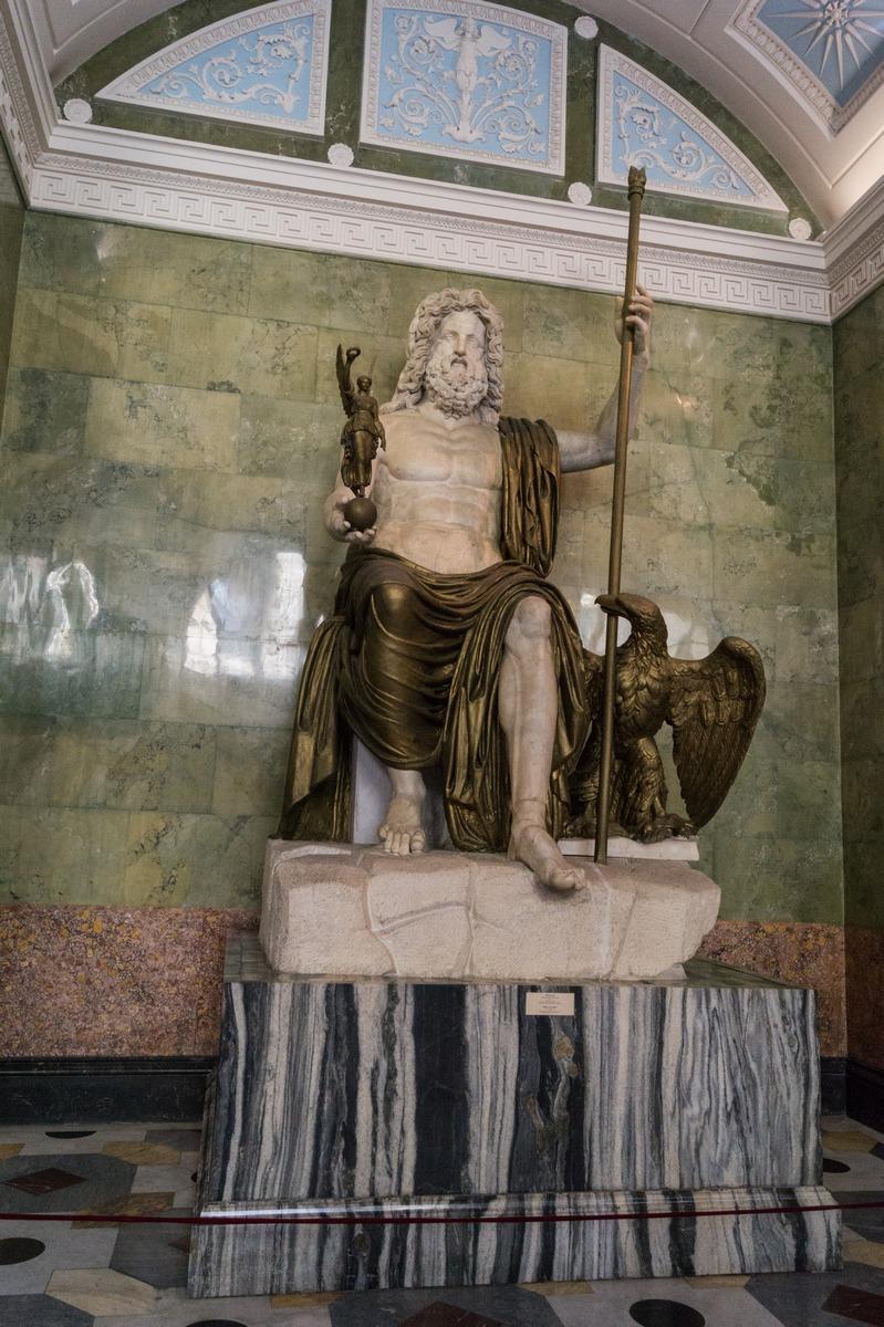 Государственный Эрмитаж.  Юпитер. Верховный бог римлян. Конец II века.