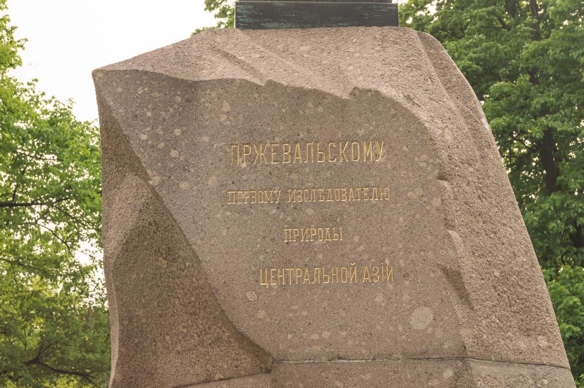 В центре Петербурга. Памятник Пржевальскому в Александровском саду. Верблюд.