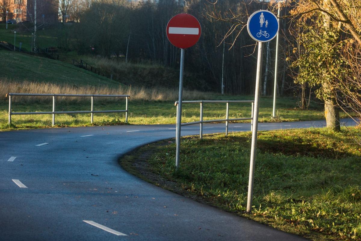 Эстония. Силламяэ. У заповедника Удрия. Парковые дорожные знаки.
