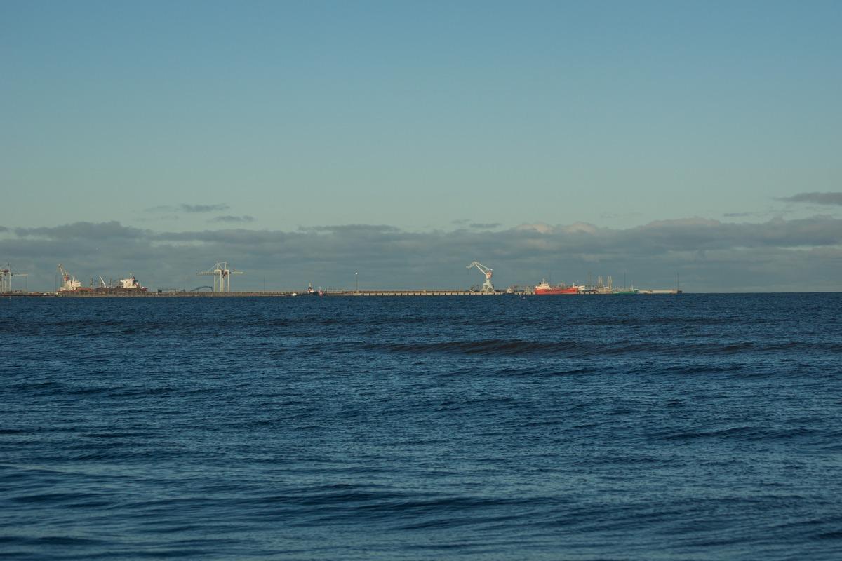 Эстония. Силламяэ. На Заливе. Вид на морской порт.
