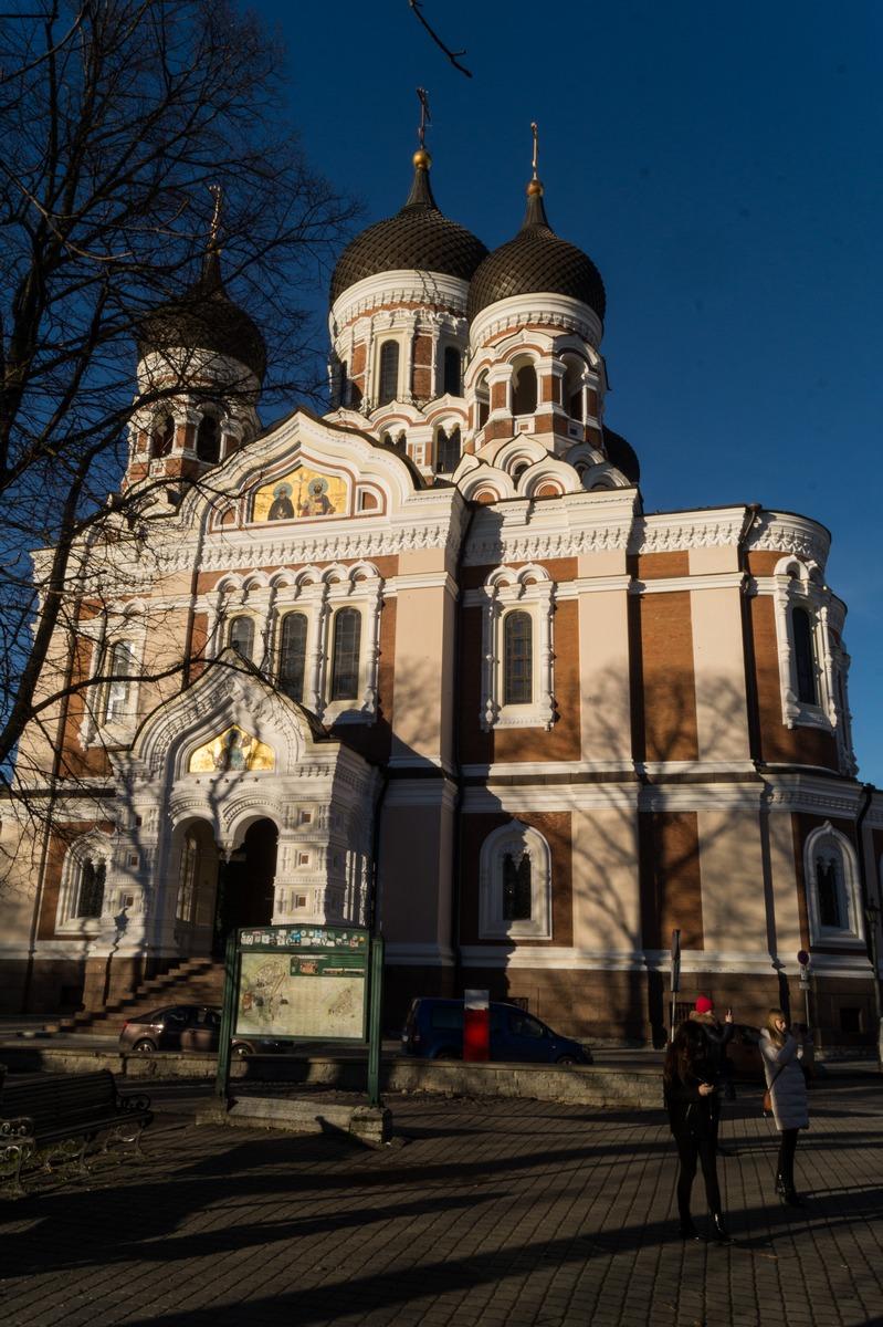 Таллин. У собора Александра Невского на холме.
