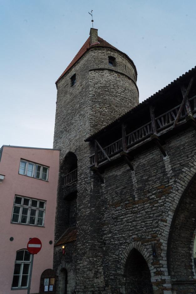 Таллин. Нижний город. Башня Нунна.