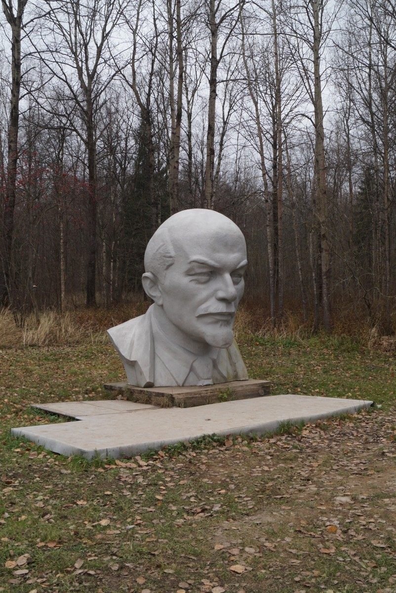 """Музейный комплекс """"Шалаш Ленина"""" у Разлива. Собственно, Ленин. Его голова."""
