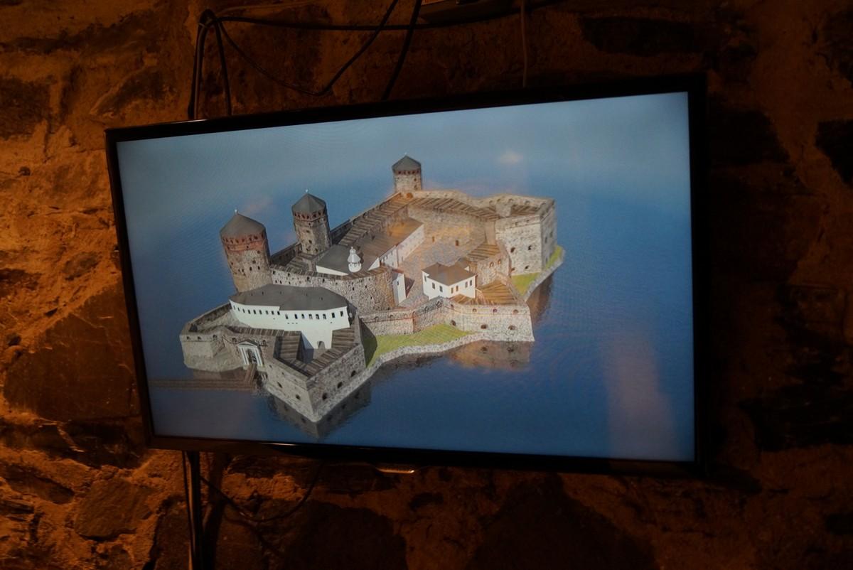 Финляндия. В крепости Олавинлинна. На экране.