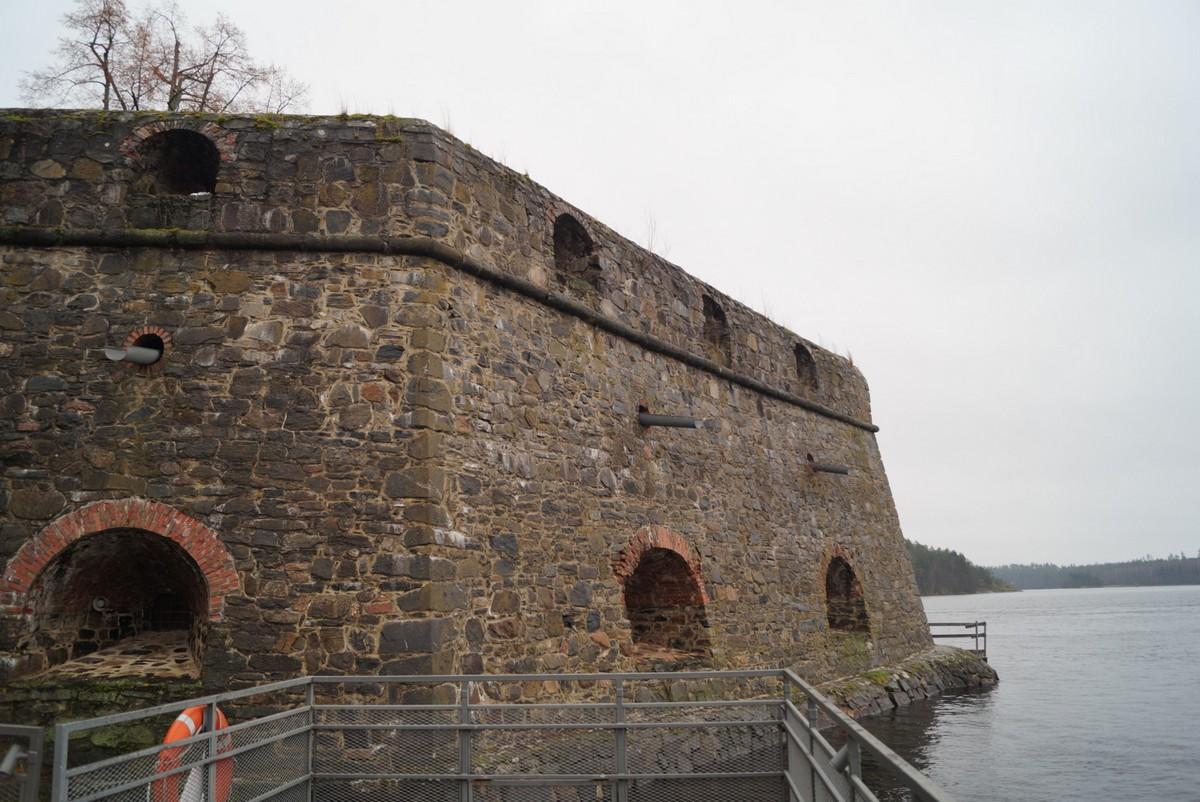 Финляндия. В крепости Олавинлинна. Бастион.