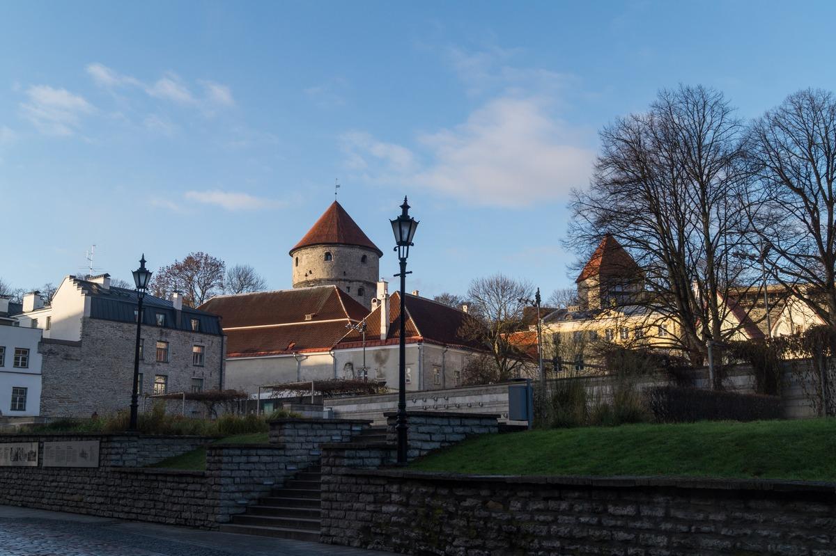 Таллин. На улице Харью. У Нигулисте. Вид на башни.