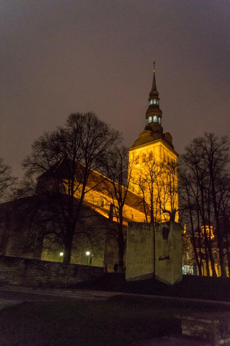 Вечерний Таллин. Церковь Нигулисте.