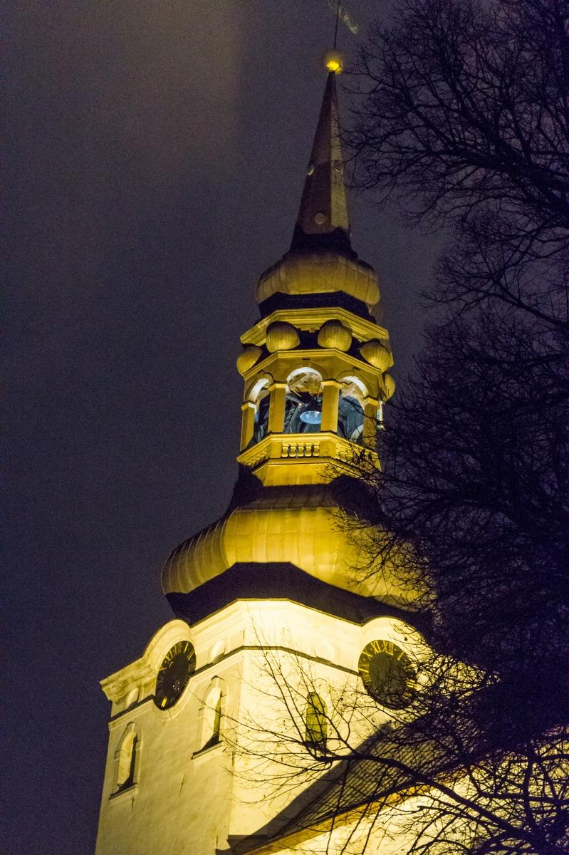 Вечерний Таллин. Домский собор.